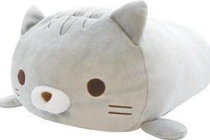 """Fuwa Mochi Plush Cat (18"""") – Amemori Gray"""