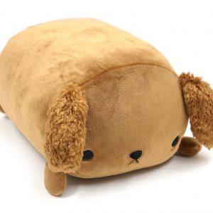 "Mochi Puni Soft Cushion (14"") – Brown Poodle"