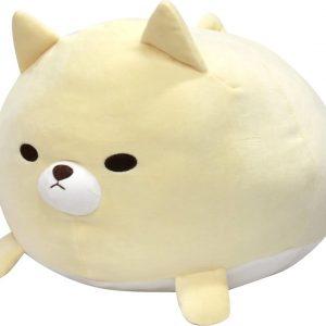 "Tawaraken Fuwa Mochi Plush Dog (17"") – Cream Akitainu"