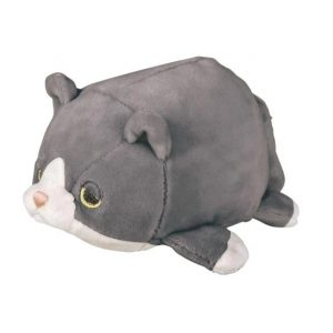 "Marshmallow Plushie (5"") – Gray Cat Fuku"